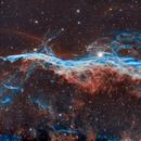 The Veil Nebula in HOO,                                Ioan Popa