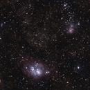 Lagoon and Trifid Nebulae,                                PghAstroDude