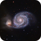 M51 Whirlpool Galaxy in LRGB - First Light of AP 1100GTO,                                Ben Koltenbah