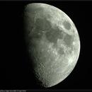 Waxing Moon, Single-shot LRGB, 23 Apr 2018,                                David Dearden