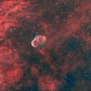 The Crescent NGC6888 HOO + RGB stars,                                Carastro