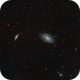 M81 & M82 Bode's galaxies / Canon 600D + SW 80ED PRO / SW EQ M-35 / SIRIL 0.9.12,                                patrick cartou