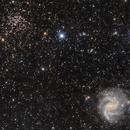 NGC6946 & NGC6939 - La galaxie du feu d'artifice et son amas d'étoiles,                                ZlochTeamAstro