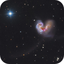 The Antennae Galaxies NGC 4038 & 4039,                                Kevin Morefield