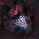 Swan (Omega) Nebula , (M17),  in 'Natural' Color Narrowband,                                mlewis