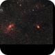 Bubble Nebula, Northern Lagoon Nebula, and Cassiopeia Salt and Pepper Cluster - WIP,                                stricnine
