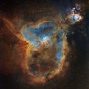 The Heart Nebula, IC1805, Hubble Palette,                                Eric Coles (coles44)