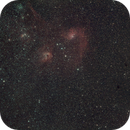 Flaming star and IC 410 widefield,                                Janos Barabas