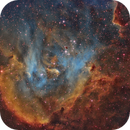 IC 2944 - Bok Globules in Running Chicken Nebula - new workflow of processing applied,                                Ariel Cappelletti