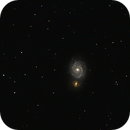 Reprocessed Whirlpool Galaxy - M51 and NGC 5195,                                Michael Kalika
