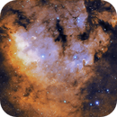 NGC7822 - Artistic take using synthetic SHO from OSC,                                John Jennings