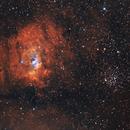 The Bubble Nebula and M52,                                lefty7283