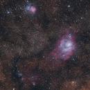 Lagoon & Trifid Nebulas,                                BQ_Octantis