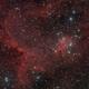 Heart nebula with add. H-alpha done with DSLR,                                Jenafan