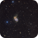 M51 Widefield and Crop  - DSW + Old data from previous M51 close up shot + LT,                                Paddy Gilliland