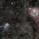 Lagoon and Trifid Nebulae,                                Michelle Bennett