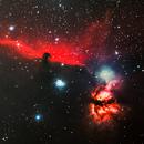 The Horsehead and Flame Nebulas,                                Eric Milewski