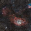 Lagoon & Trifid Nebulas,                                David Augros