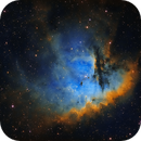 Pacman Nebula Captured in Narrowband,                                  Chuck's Astrophot...