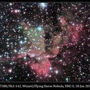 NGC 7380/Sh2-142, Wizard/Flying Horse Nebula, UHC-S, 18 Jun 2014,                                David Dearden