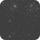 C/2017 T2 (PANSTARRS) cruises near the Double Cluster,                                Linda