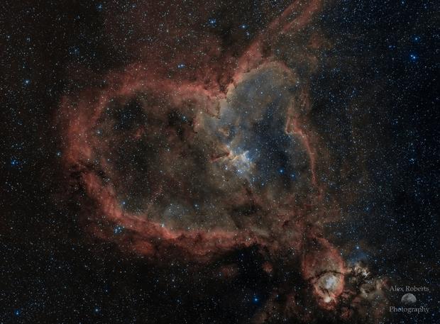 The Heart Nebula: Valentine's Day Edition,                                Alex Roberts