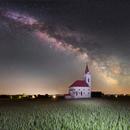 Sibrik Church under Milky Way,                                Makár Dávid