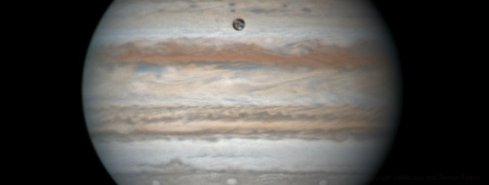 Jupiter and Ganymede on April 8,                                chilescope