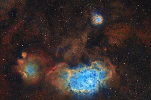 M8-M20-nebuleuses de la lagune et trifide SHO,                                astromat89