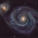 Galaxie M 51 des Chiens de Chasse,                                10943_Brunier