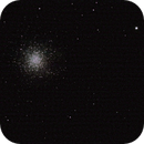 M13: Great cluster in Hercules,                                Blueastrophotography