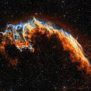 Eastern Veil nebula in narrowband,                                Rick Stevenson