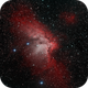 Sharpless 142 - The Wizard Nebula in H-alpha and O-III,                                Kevin Dixon