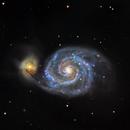 Galaxia del remolino M-51,                                Astrofotografia A.R.B.