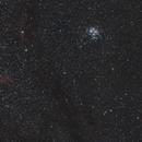 Widefield California nebula (NGC1944), the Pleiades (M45) and Aldebaran,                                AstroBrome