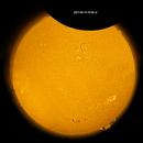Solar eclipse 2021 - 06 - 10  from  Switzerland in H-Alpha,                                Sepp Käser