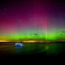 Aurora Borealis Over Belhaven Beach, Dunbar.,                                Gavin Dougan