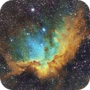 NGC7380 in SHO (colors modified),                                oystein