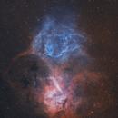 Sh2-132 • The Lion Nebula in Ha & OIII,                                Douglas J Struble