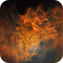 The Flaming Star Nebula IC 405 (Hubble Palette),                                Bogdan Jarzyna