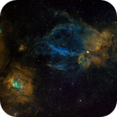 Bubble Nebula NGC 7635, Sh 2-157,                                astrotf