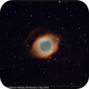 NGC 7293, Helix / Sunflower Nebula, HO Bicolor, 4-5 Sep 2018,                                David Dearden