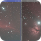 DSS Stacking Comparison with the Horse Head Nebula,                                Uwe Deutermann