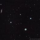 M97 Owl Nebula & M108 Surfboard Galaxy (560mm),                                star-watcher.ch