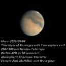 Mars - 2020/09/04 (Time lapse),                                Olivier Ravayrol