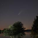 Comet Neowise over Bald Knob Lake,                                J Holland