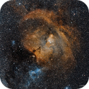 NGC 2264, the Cone Nebula, in Widefield and  Narrowband,                                Russ Carpenter