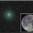 Comparison of Comet C/2020 M3 ATLAS with the Moon - Same equipment,                                Dan Bartlett