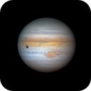 Ganymede and his shadow on the surface of Jupiter! 18.07.2021. Height above the horizon is 17 degrees.,                                Sergei Sankov