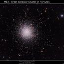 M13 - Great Gobular Cluster in Hercules,                                  Brice Blanc